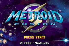 'Metroid Fusion' title screen