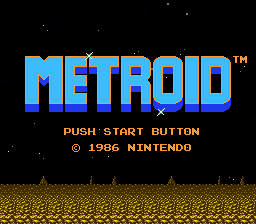 'Metroid' title screen