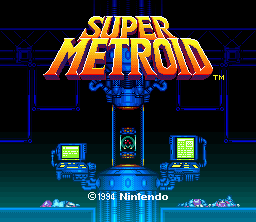 'Super Metroid' title screen